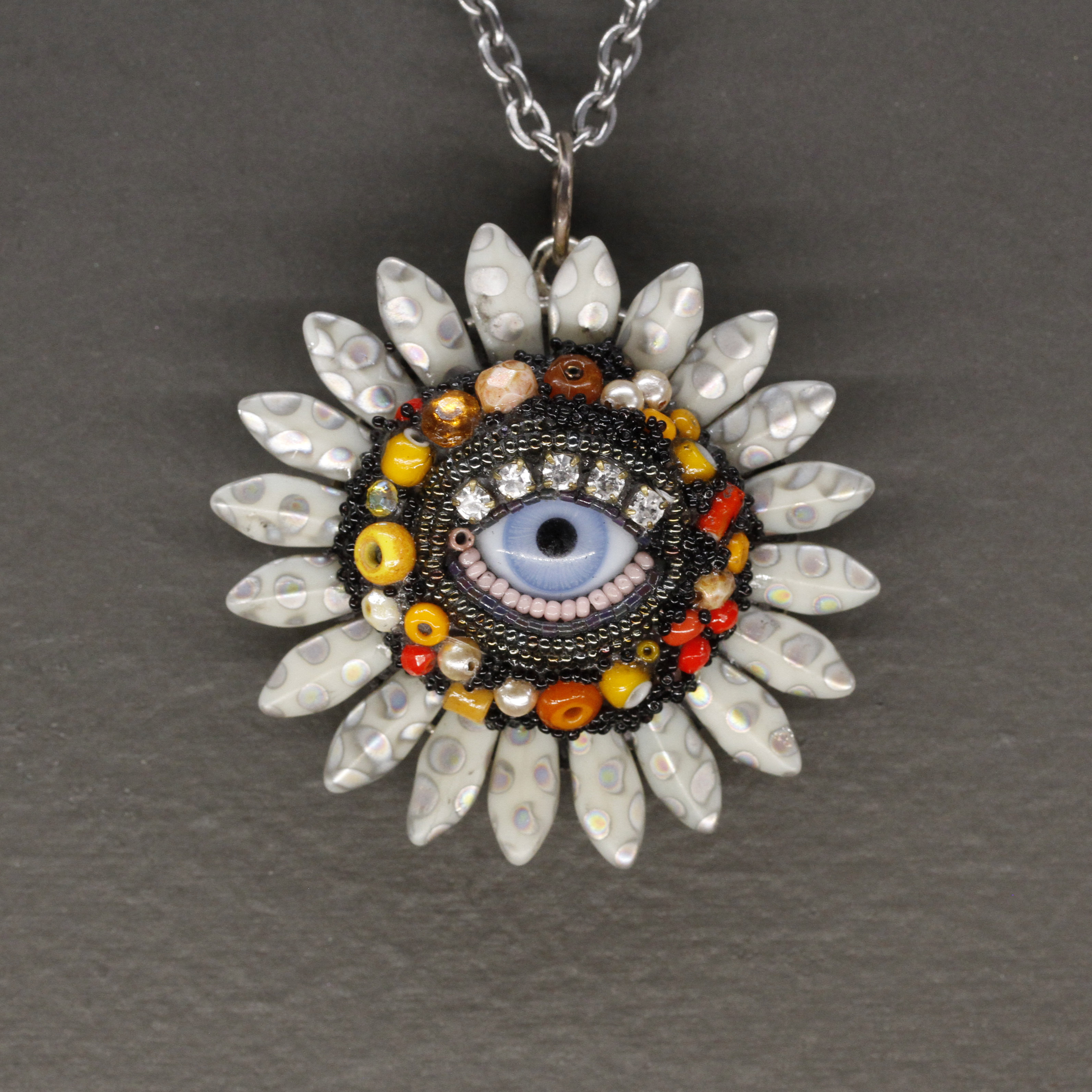 Eye flower pendant 1 gallery two nola eye flower pendant 1 mozeypictures Image collections